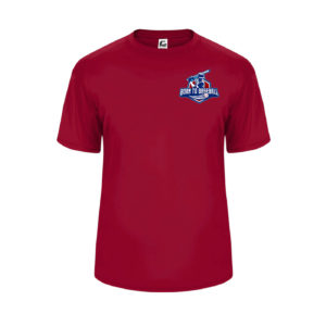 Youth Diamond Performance Tee Red